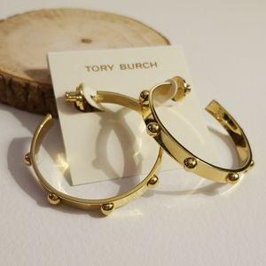 Tory Burch studded hoop earrings